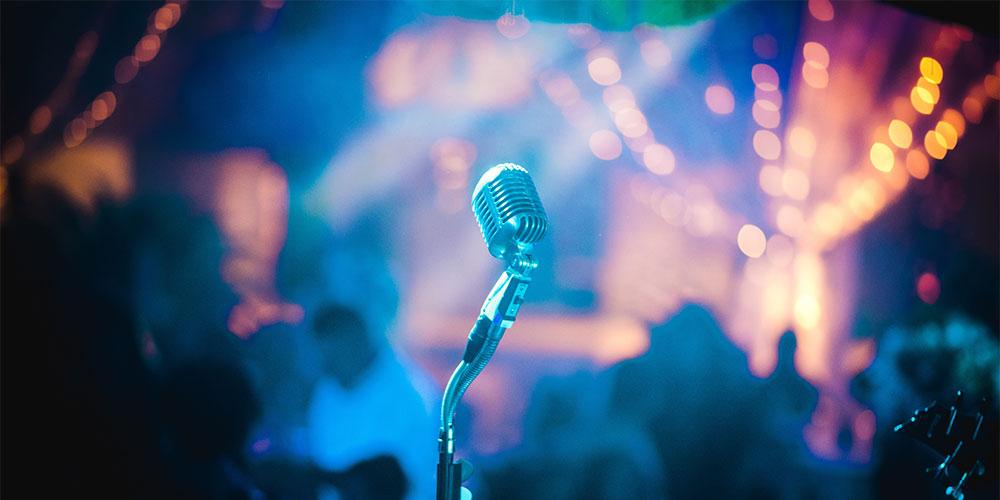 Microfono sul palco
